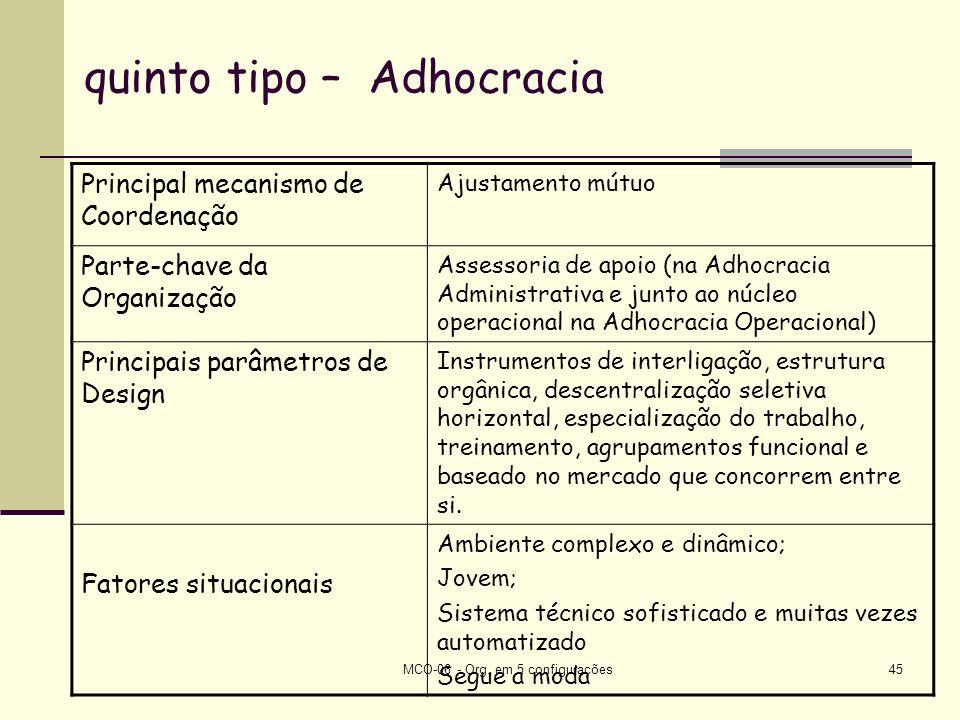 quinto tipo – Adhocracia