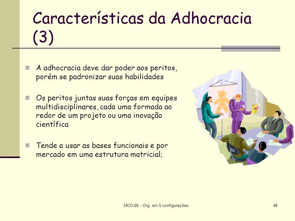 Características da Adhocracia (3)