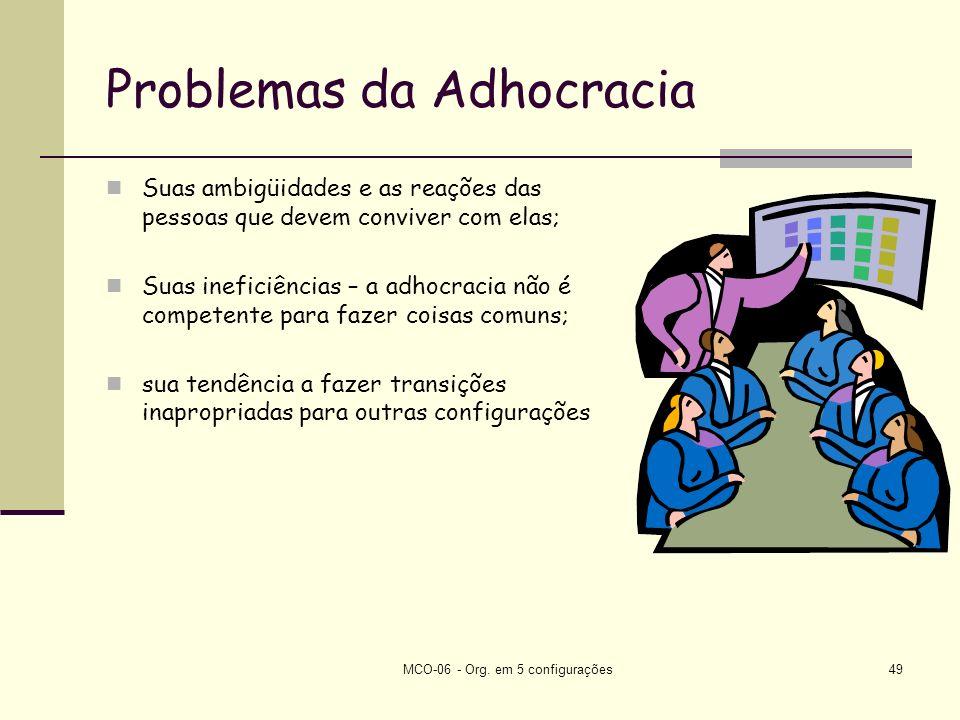 Problemas da Adhocracia