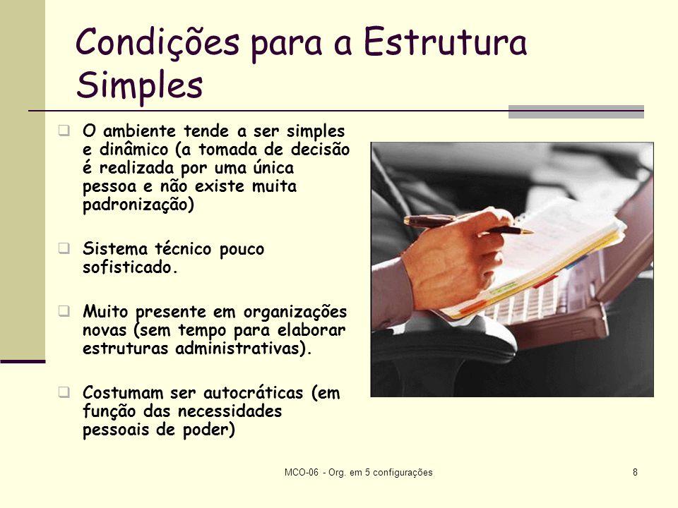 Condições para a Estrutura Simples