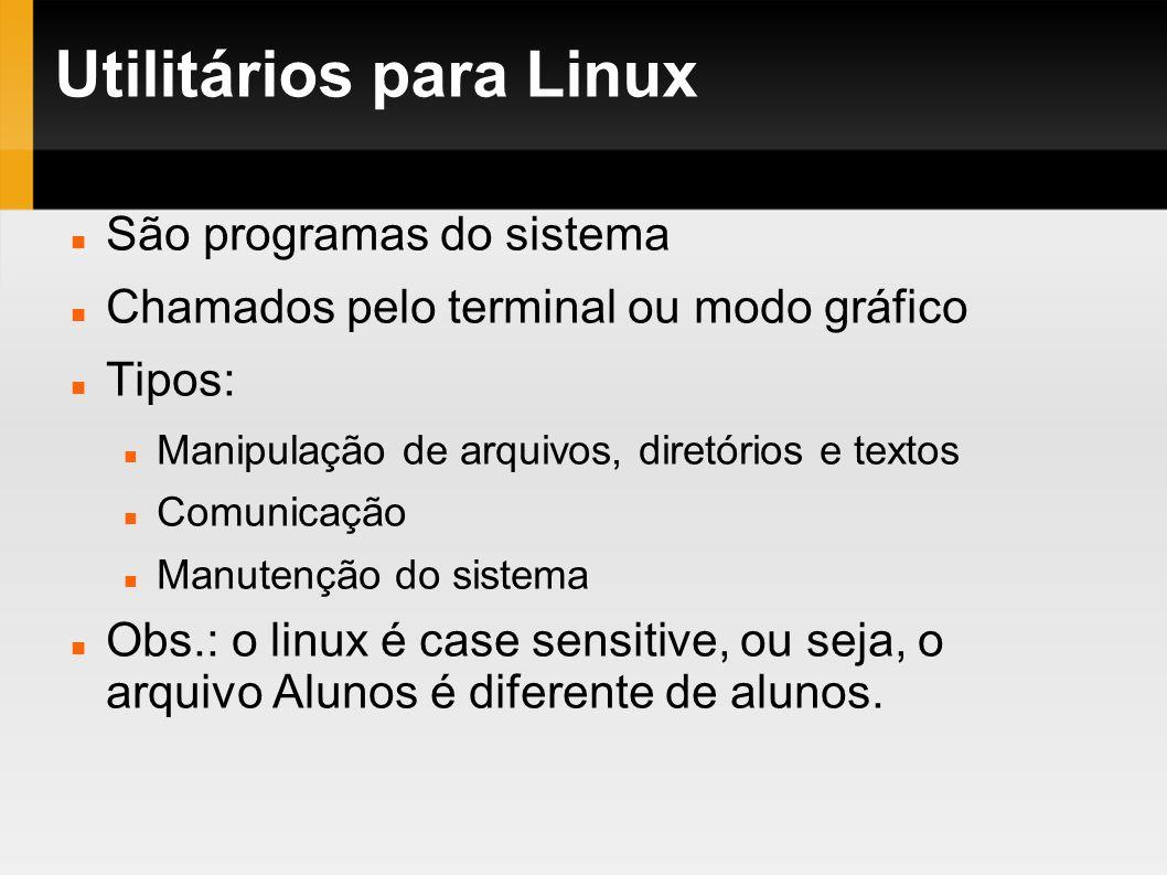 Utilitários para Linux