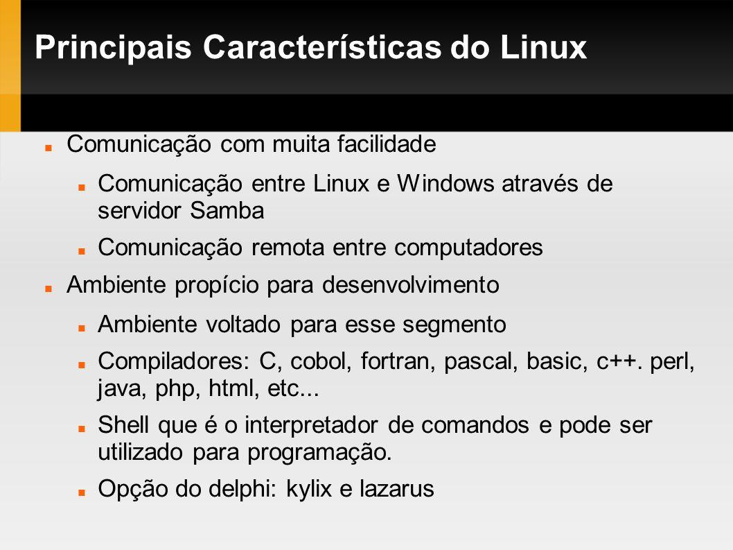 Principais Características do Linux