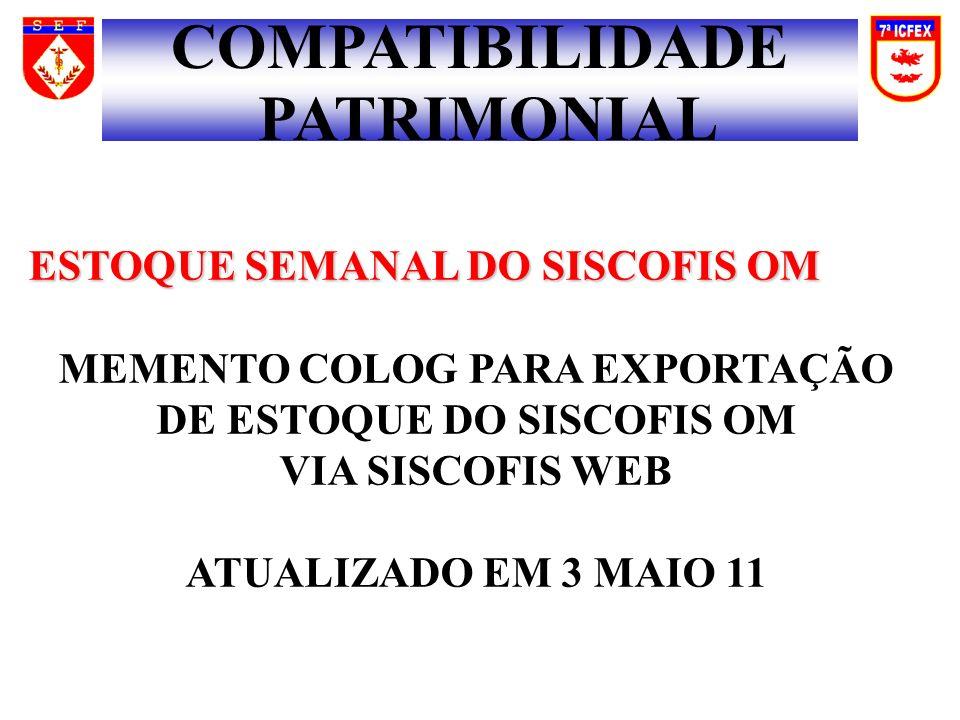 MEMENTO COLOG PARA EXPORTAÇÃO DE ESTOQUE DO SISCOFIS OM