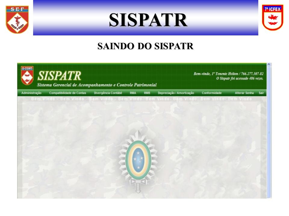 SISPATR SAINDO DO SISPATR
