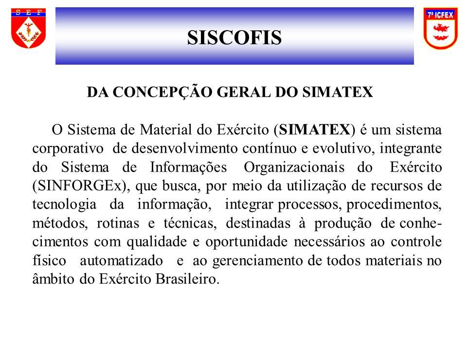 SISCOFIS DA CONCEPÇÃO GERAL DO SIMATEX
