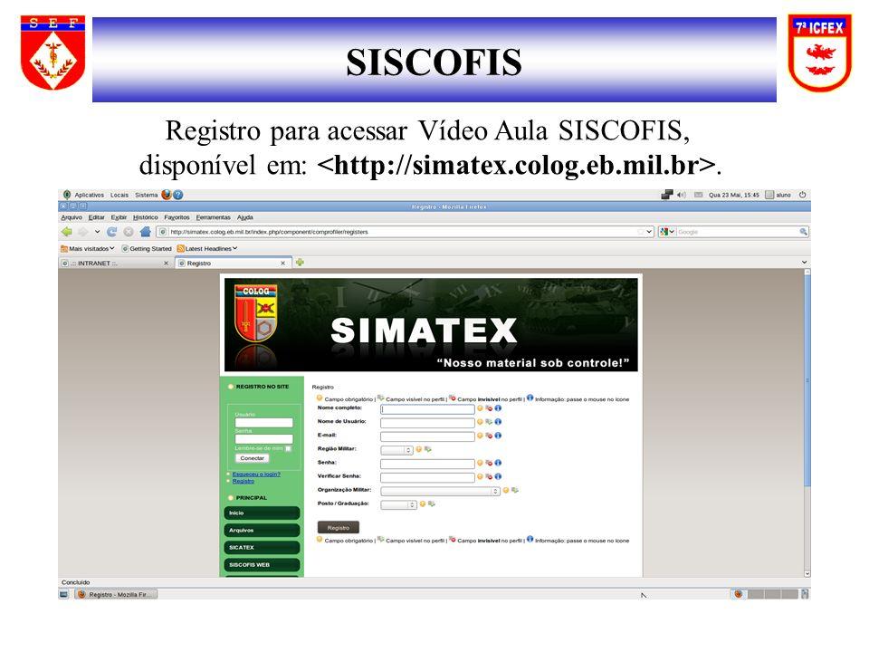 SISCOFIS Registro para acessar Vídeo Aula SISCOFIS,