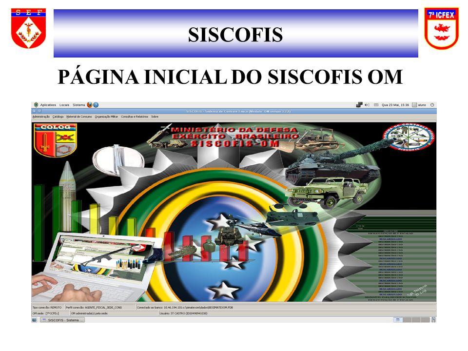 PÁGINA INICIAL DO SISCOFIS OM