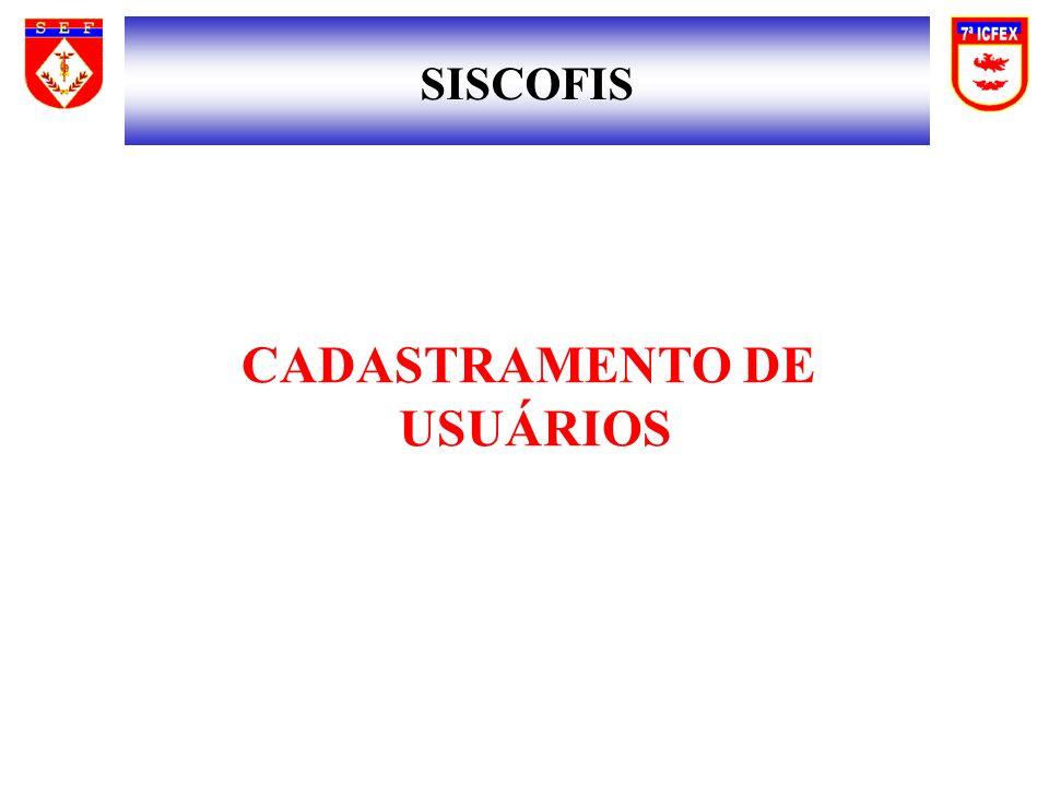 CADASTRAMENTO DE USUÁRIOS