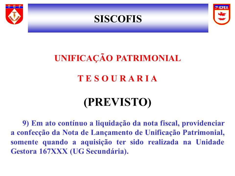 UNIFICAÇÃO PATRIMONIAL