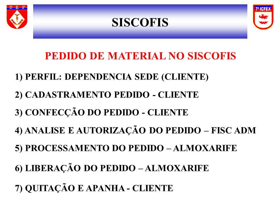 PEDIDO DE MATERIAL NO SISCOFIS