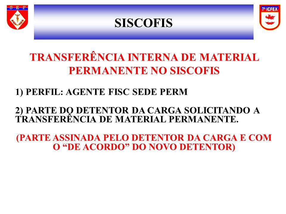 TRANSFERÊNCIA INTERNA DE MATERIAL PERMANENTE NO SISCOFIS