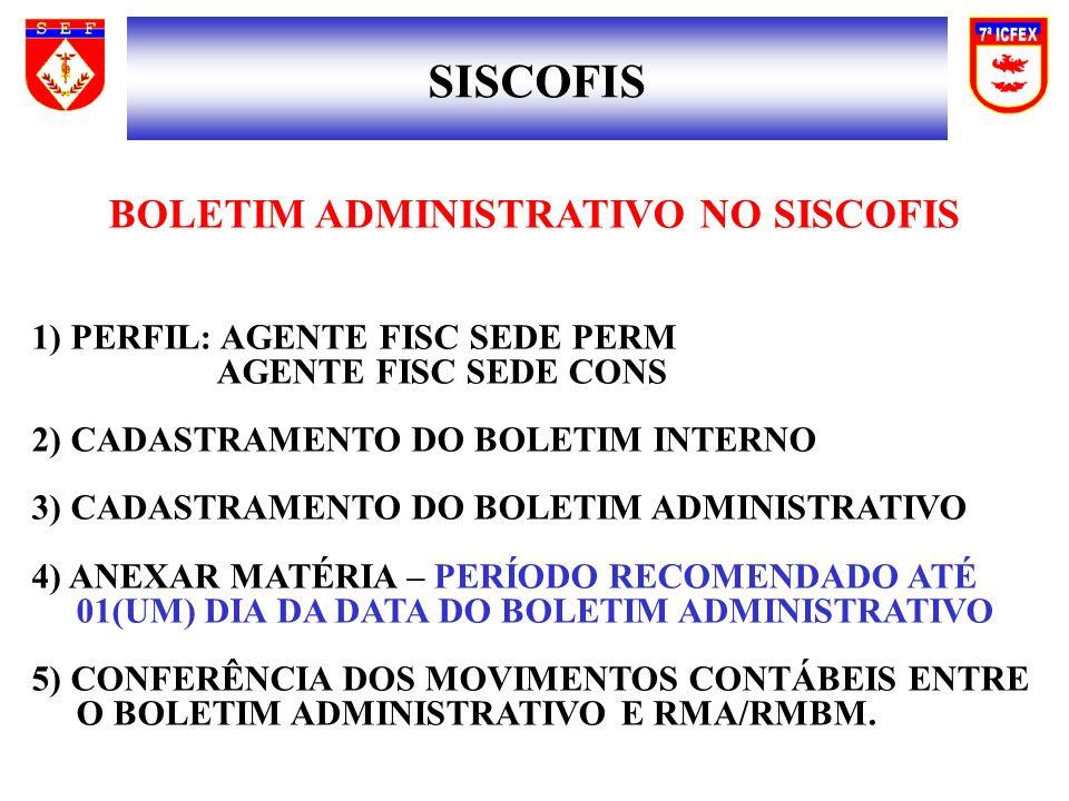 BOLETIM ADMINISTRATIVO NO SISCOFIS