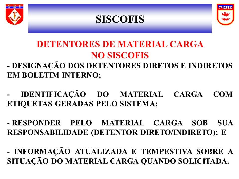 DETENTORES DE MATERIAL CARGA