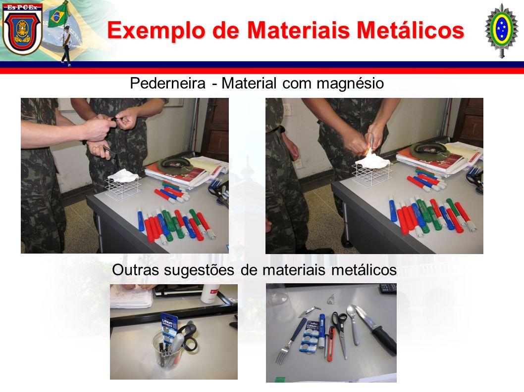 Exemplo de Materiais Metálicos