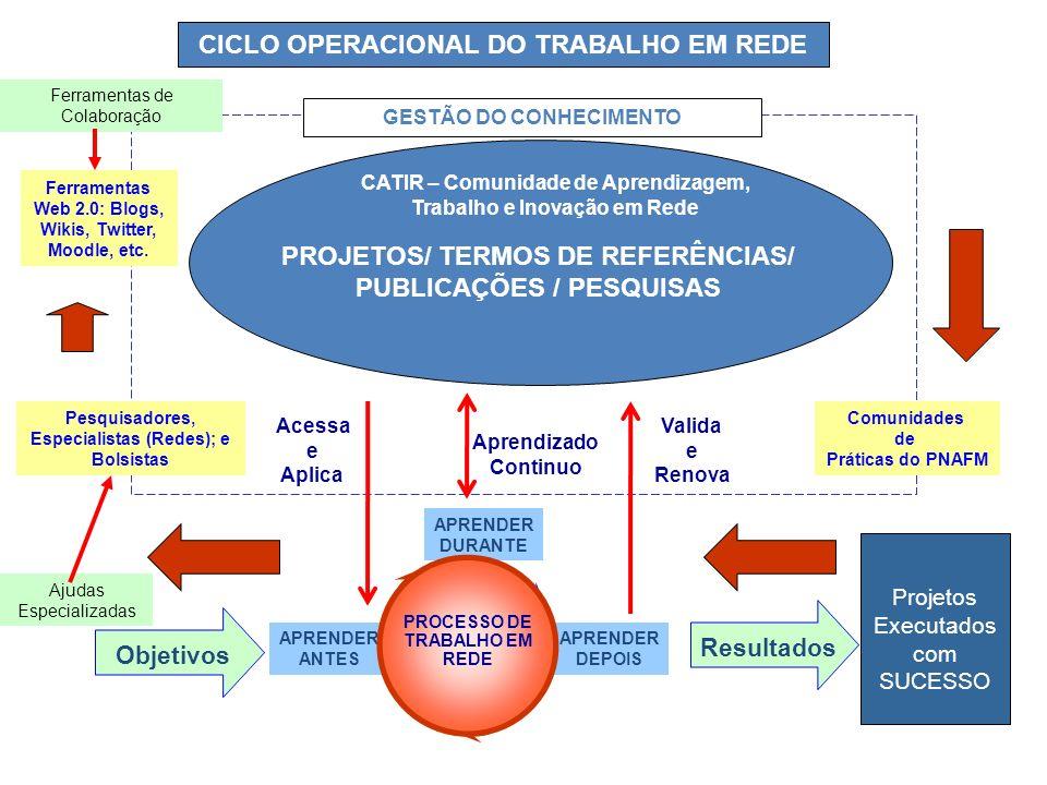 CICLO OPERACIONAL DO TRABALHO EM REDE