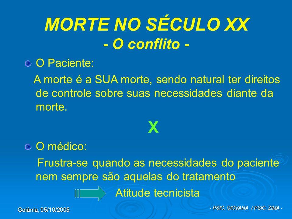 MORTE NO SÉCULO XX - O conflito -