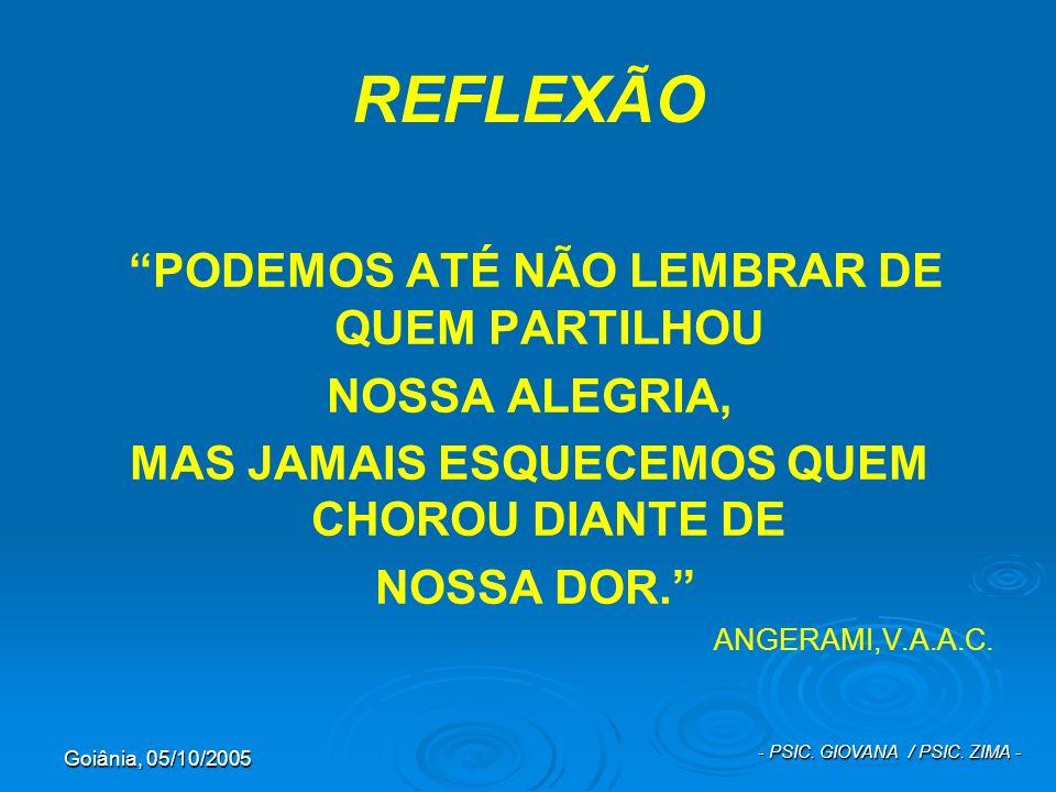 REFLEXÃO PODEMOS ATÉ NÃO LEMBRAR DE QUEM PARTILHOU NOSSA ALEGRIA,