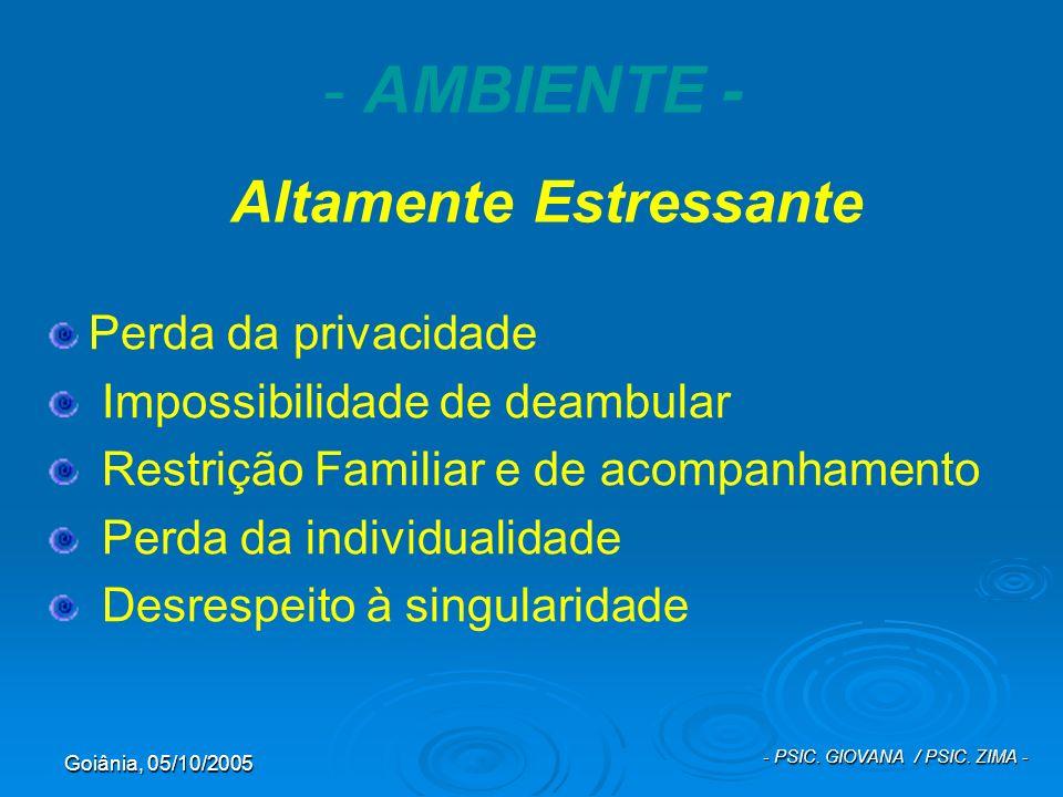 AMBIENTE - Altamente Estressante