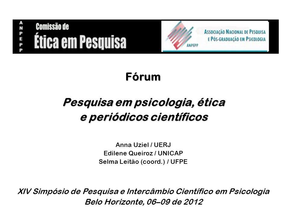 Pesquisa em psicologia, ética e periódicos científicos