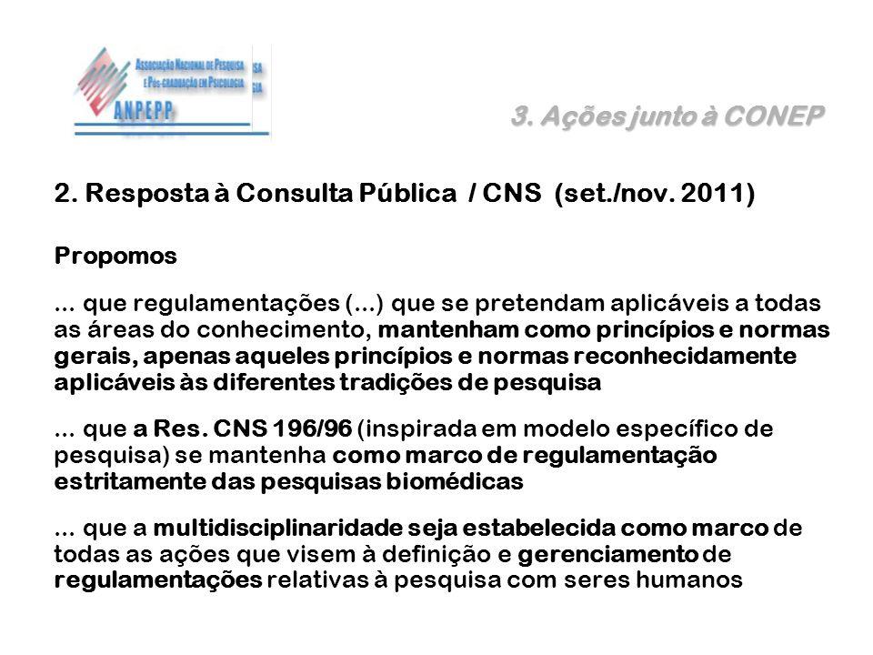 2. Resposta à Consulta Pública / CNS (set./nov. 2011)