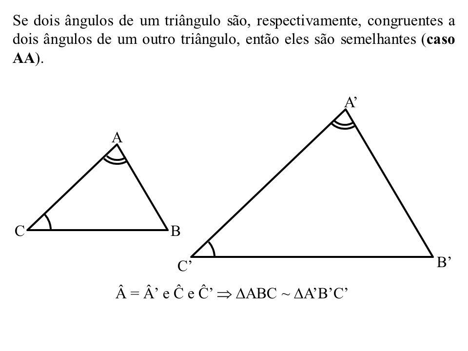 = Â' e Ĉ e Ĉ'  ABC ~ A'B'C'