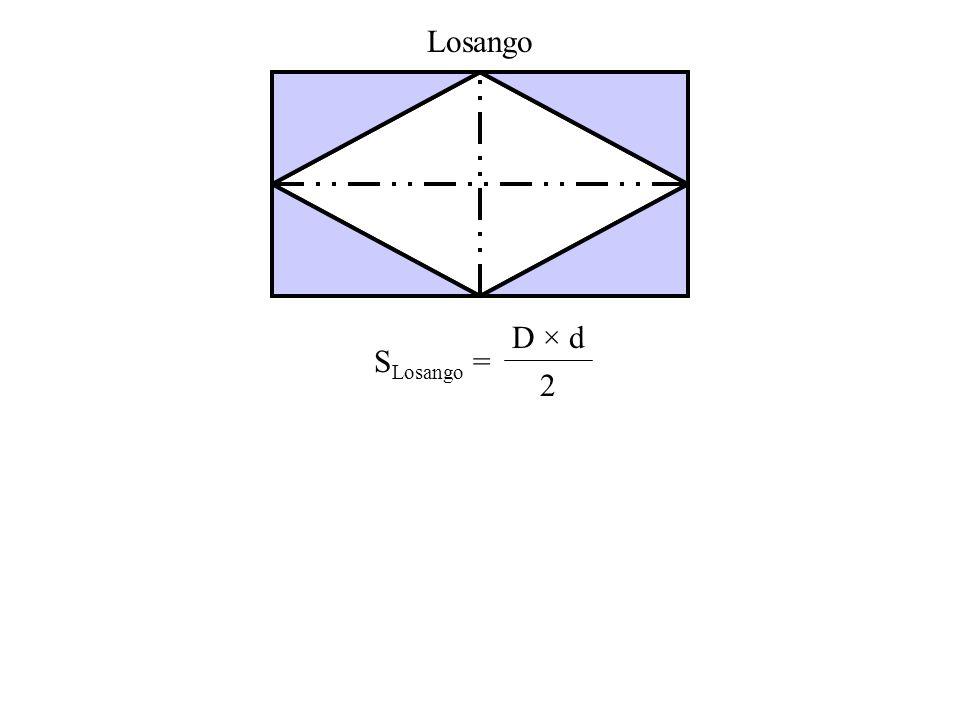 Losango SLosango = D × d 2