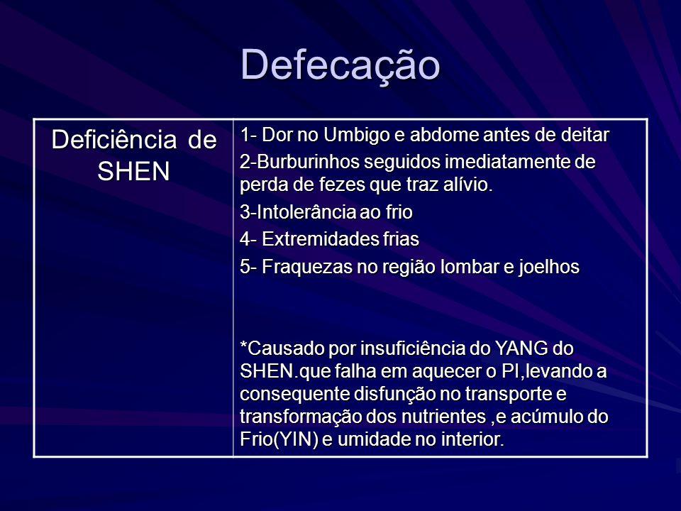 Defecação Deficiência de SHEN