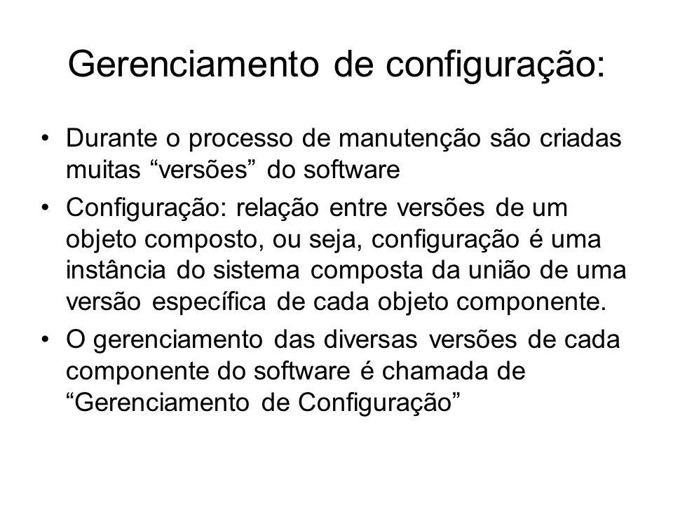 Gerenciamento de configuração: