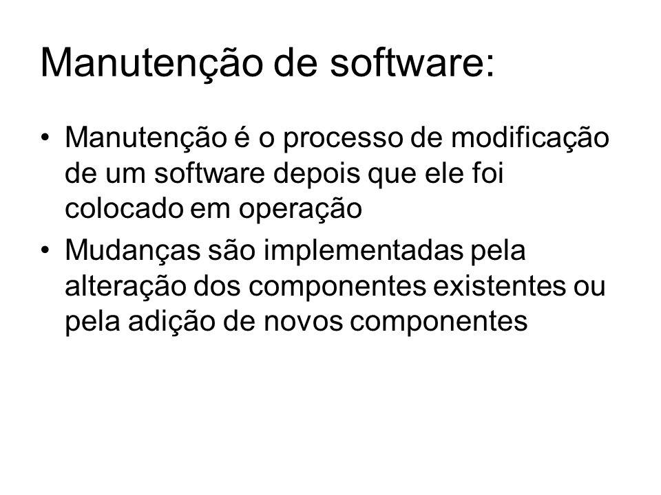 Manutenção de software: