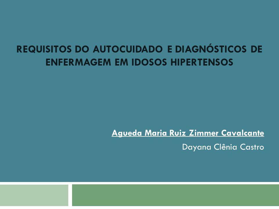 Agueda Maria Ruiz Zimmer Cavalcante Dayana Clênia Castro