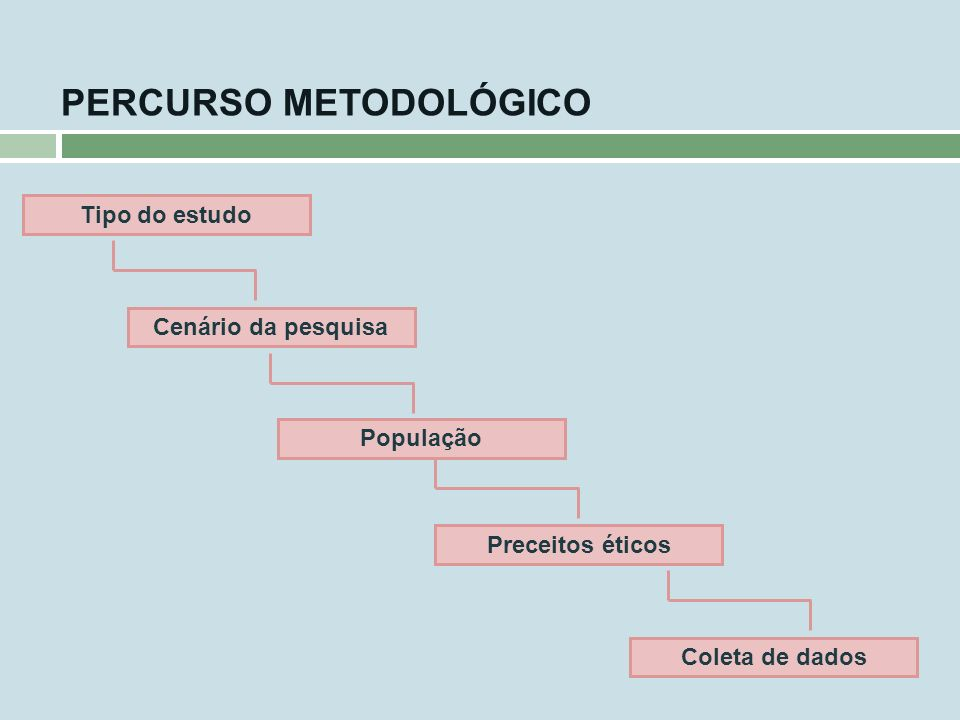 PERCURSO METODOLÓGICO