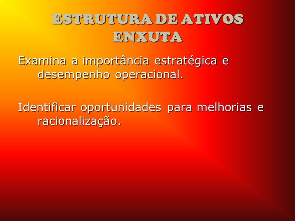 ESTRUTURA DE ATIVOS ENXUTA