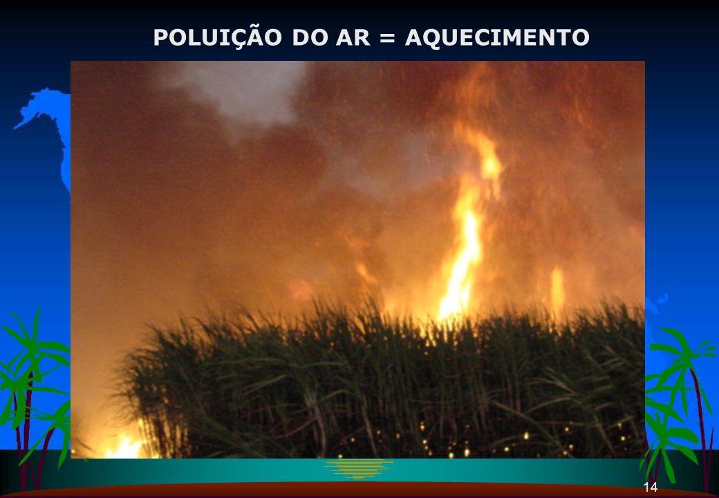 POLUIÇÃO DO AR = AQUECIMENTO