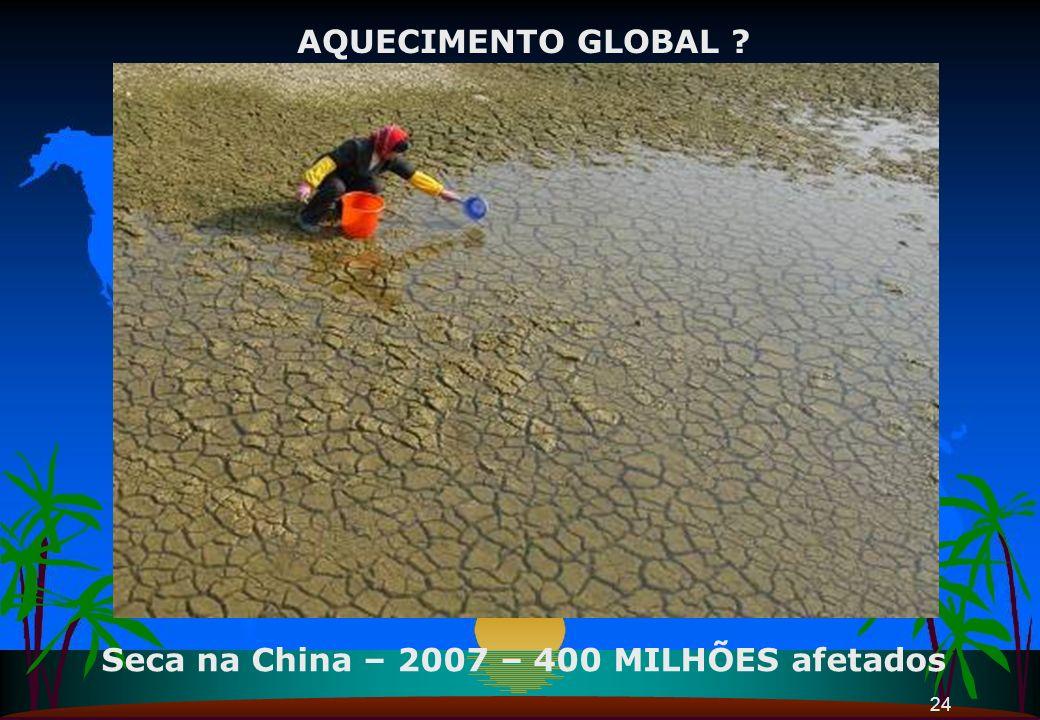 Seca na China – 2007 – 400 MILHÕES afetados