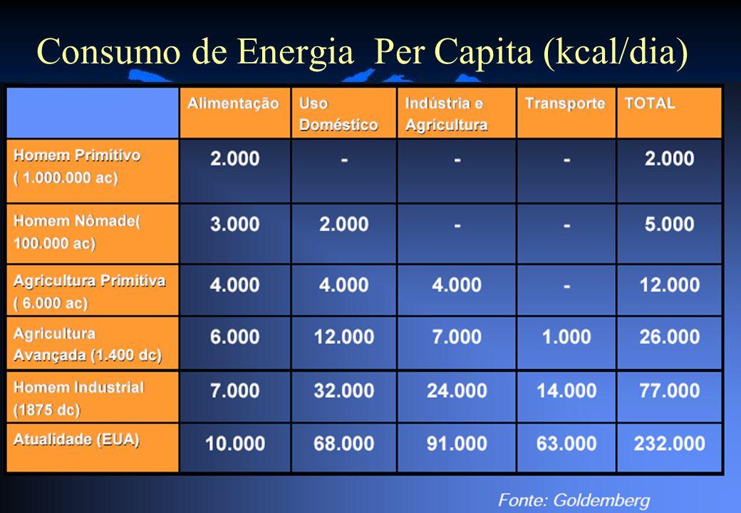 Consumo de Energia Per Capita (kcal/dia)