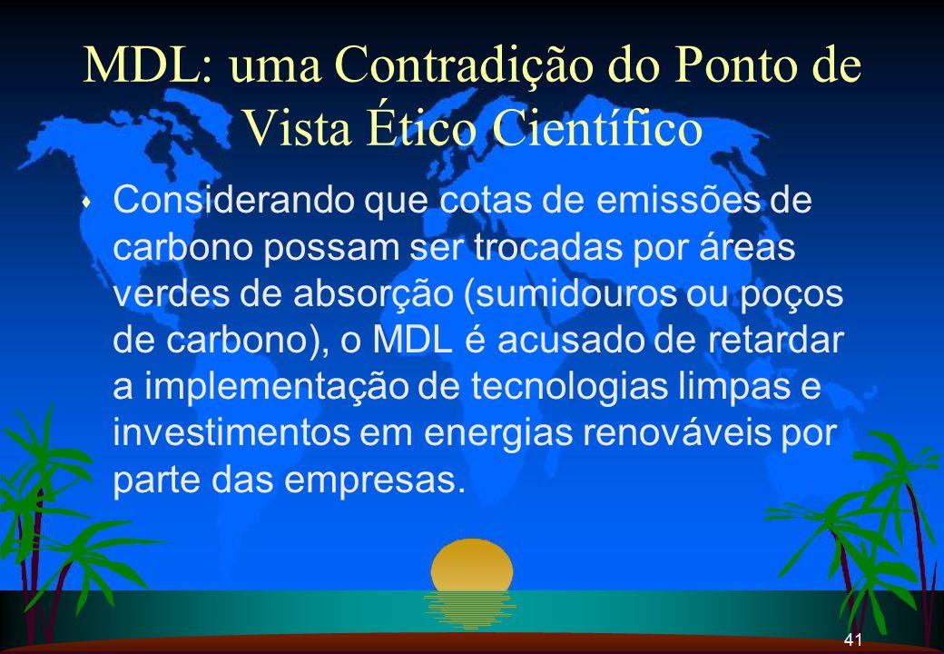 MDL: uma Contradição do Ponto de Vista Ético Científico