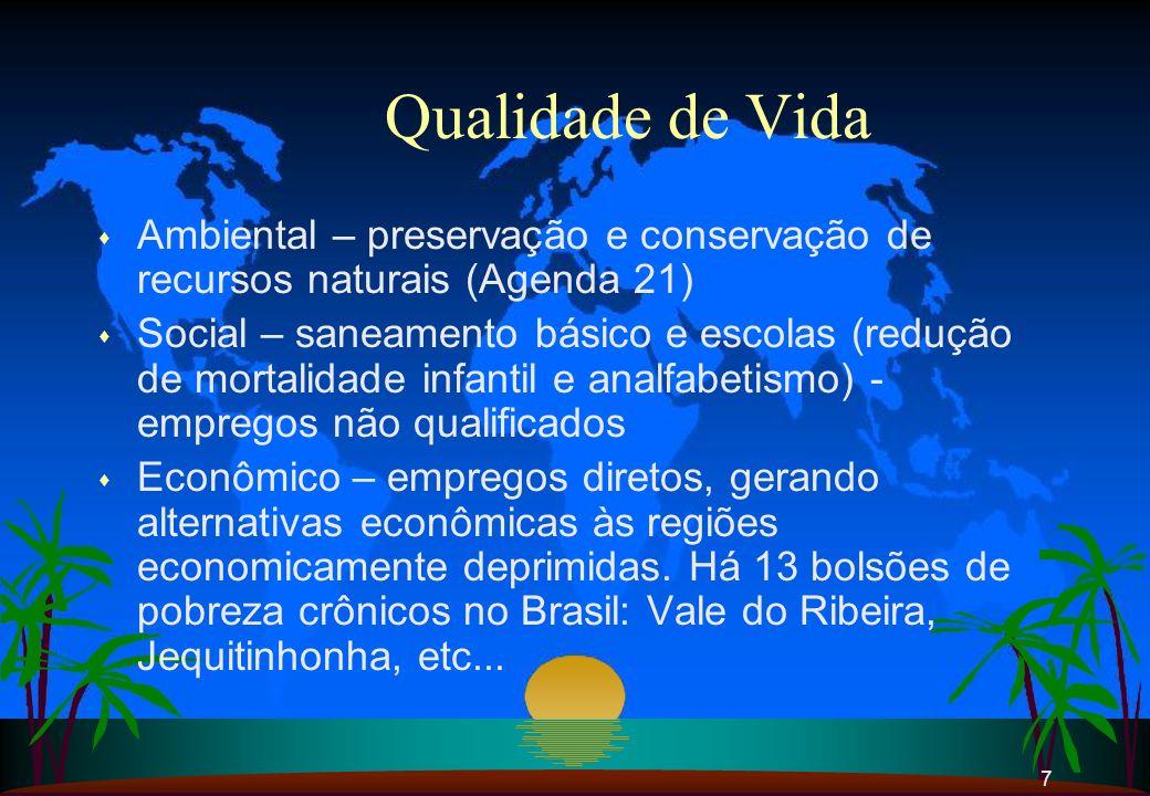 Qualidade de Vida Ambiental – preservação e conservação de recursos naturais (Agenda 21)