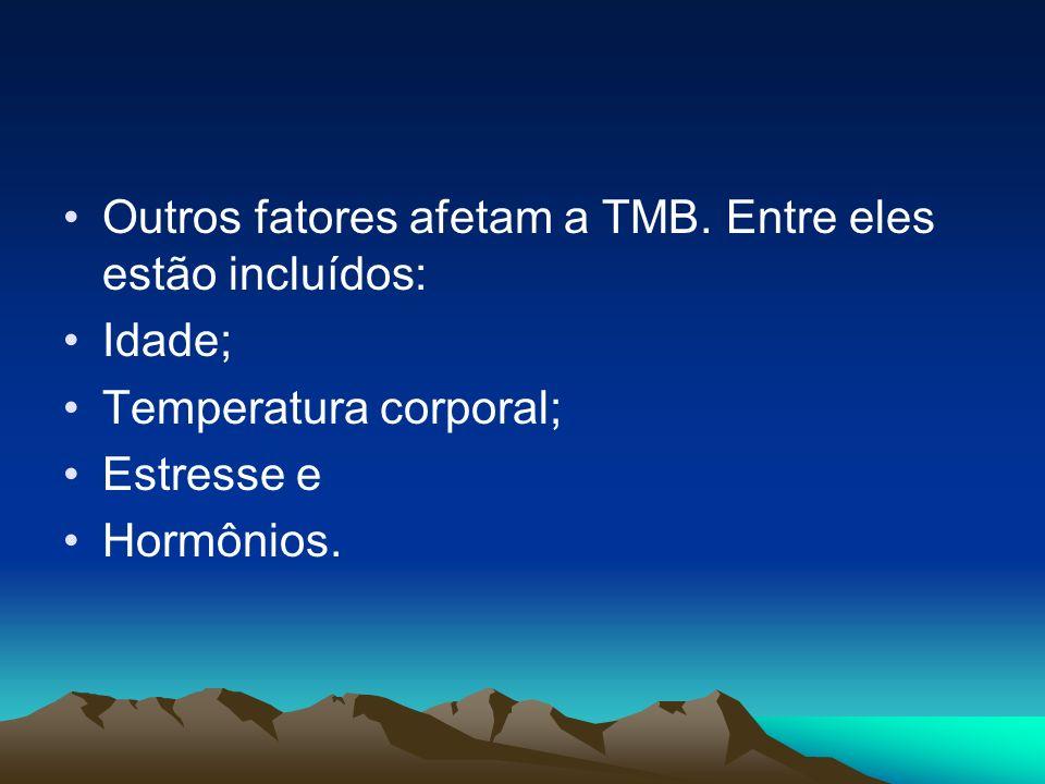 Outros fatores afetam a TMB. Entre eles estão incluídos: