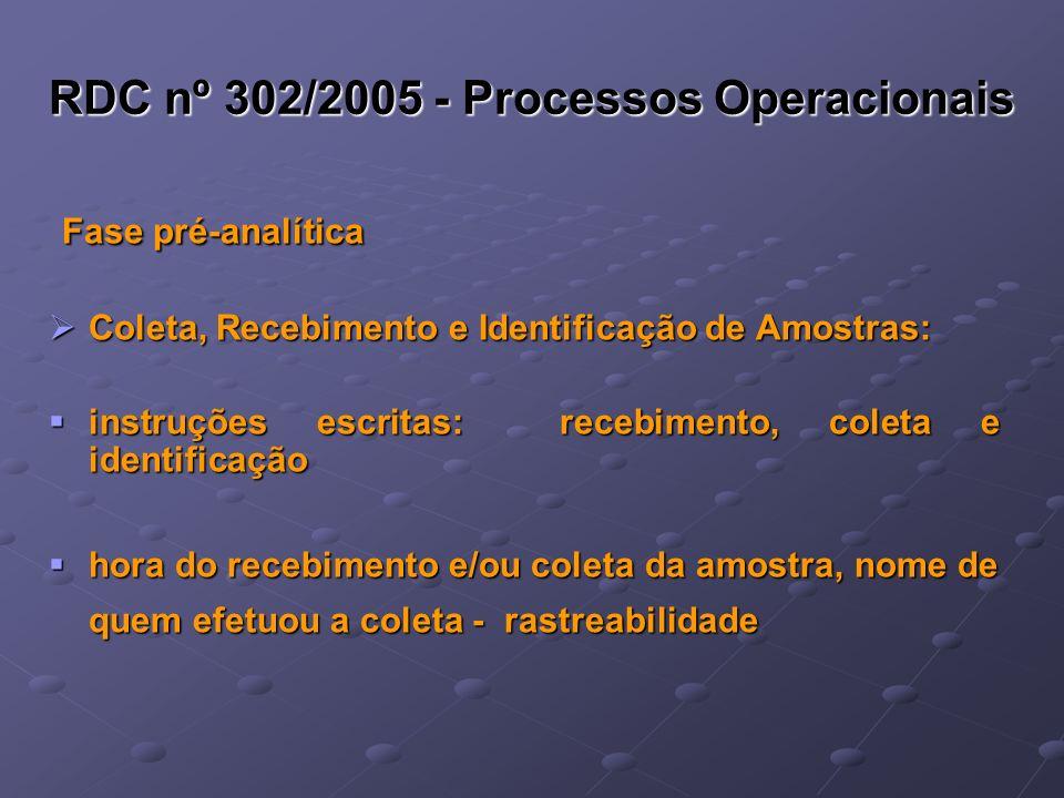 RDC nº 302/2005 - Processos Operacionais
