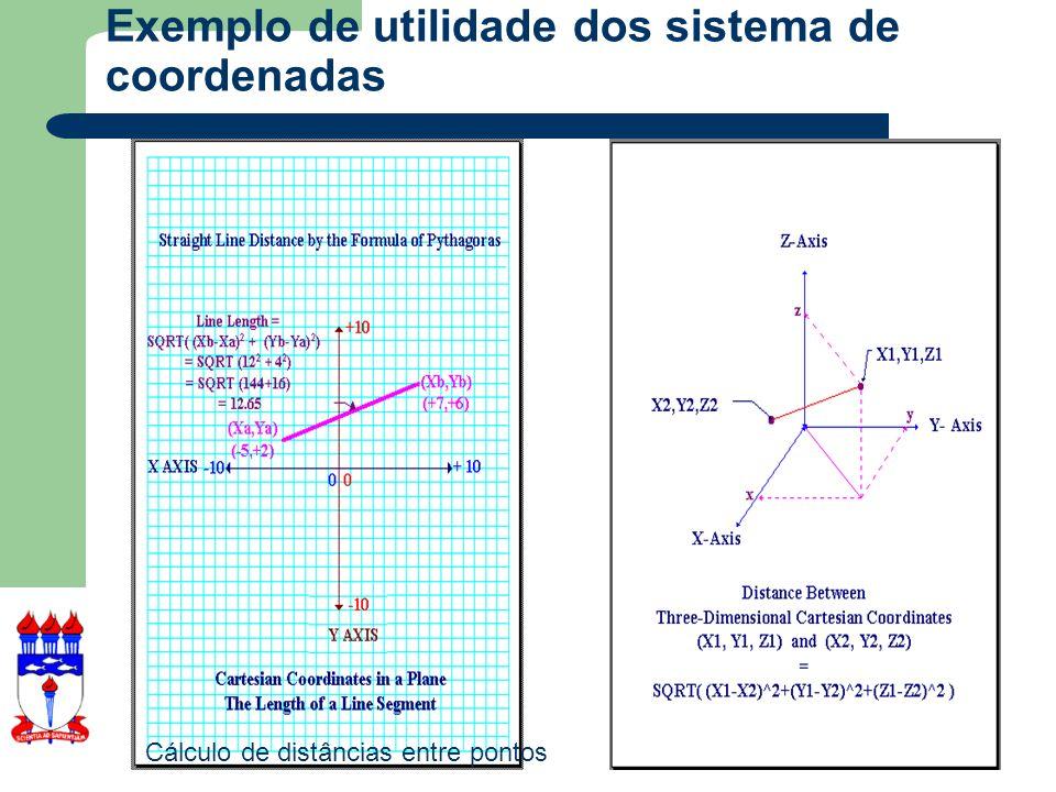 Exemplo de utilidade dos sistema de coordenadas