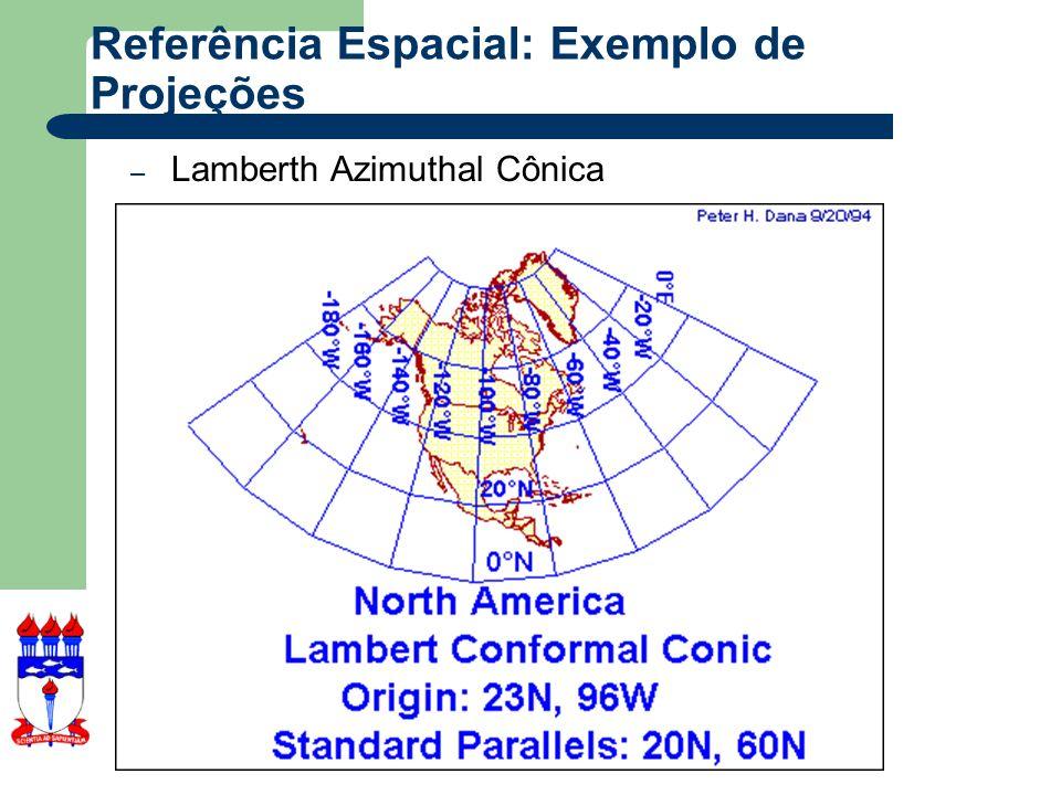 Referência Espacial: Exemplo de Projeções