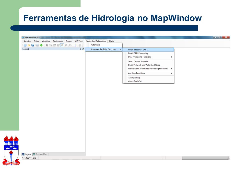 Ferramentas de Hidrologia no MapWindow