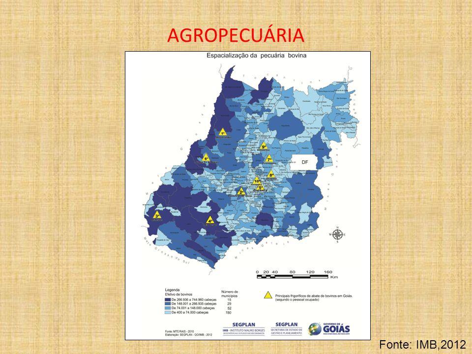 AGROPECUÁRIA Fonte: IMB,2012