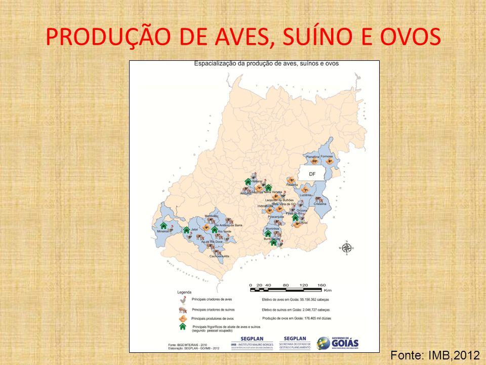 PRODUÇÃO DE AVES, SUÍNO E OVOS