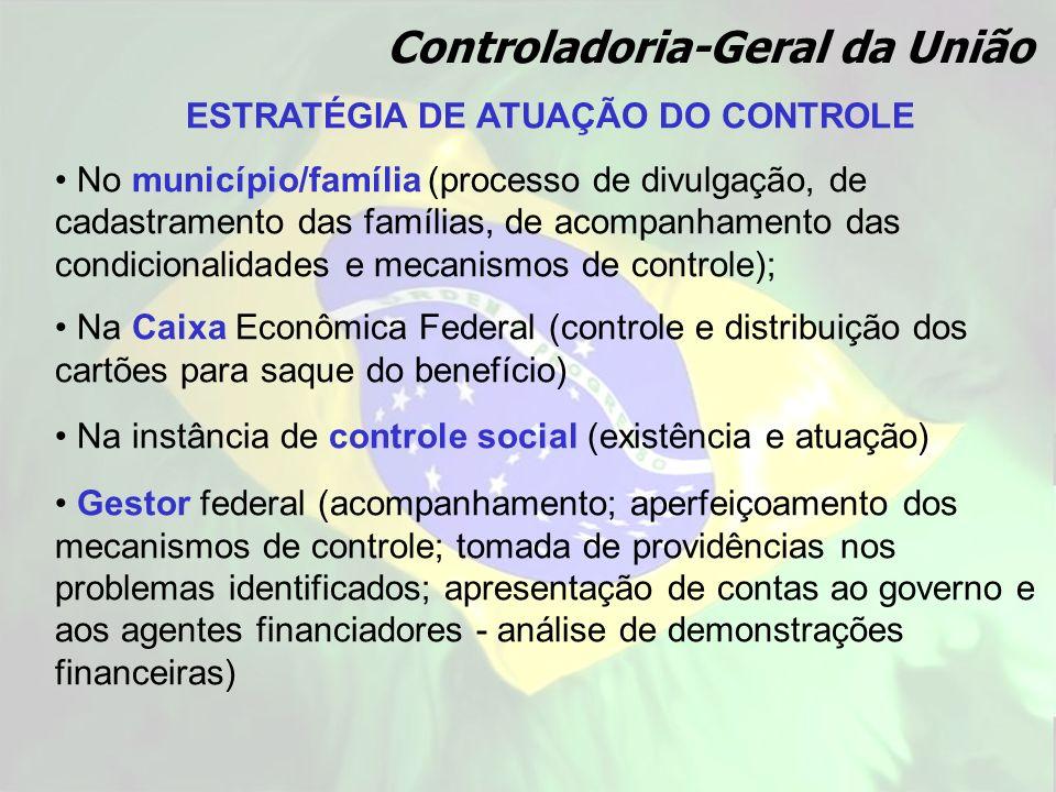 ESTRATÉGIA DE ATUAÇÃO DO CONTROLE