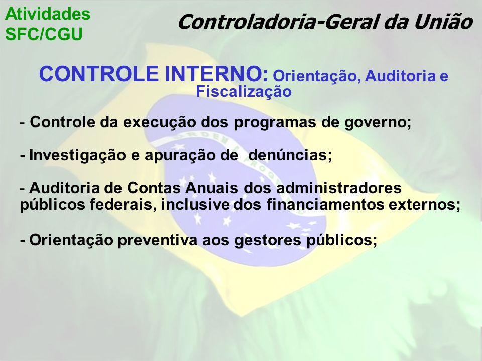 CONTROLE INTERNO: Orientação, Auditoria e Fiscalização
