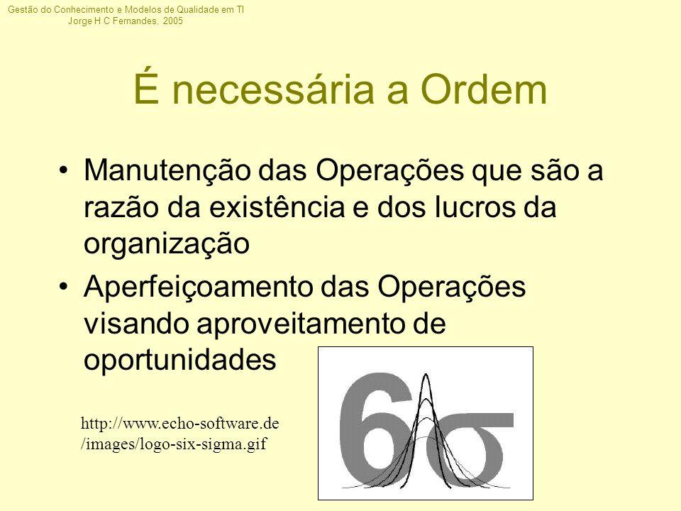 É necessária a Ordem Manutenção das Operações que são a razão da existência e dos lucros da organização.