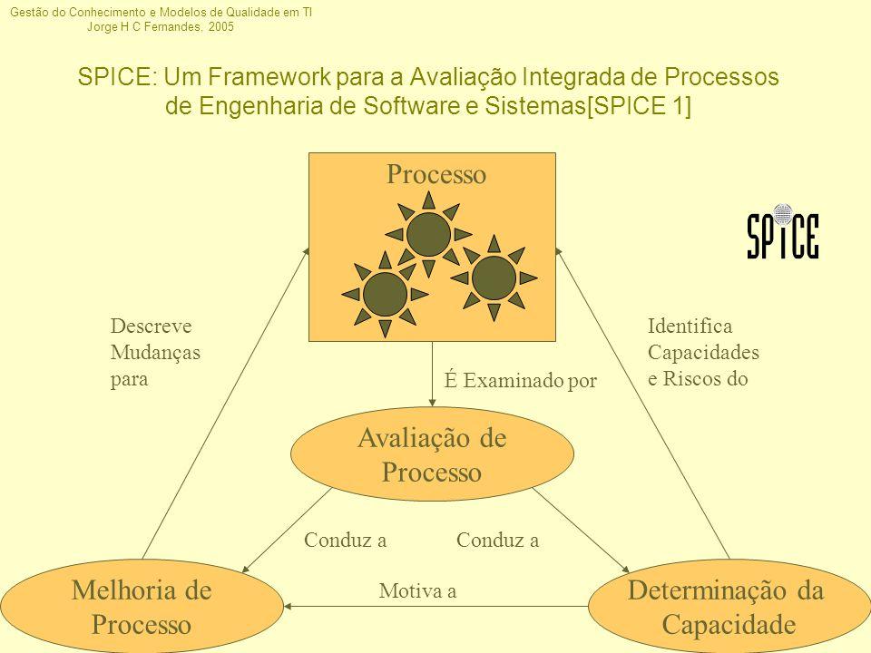 Processo Avaliação de Processo Melhoria de Processo Determinação da