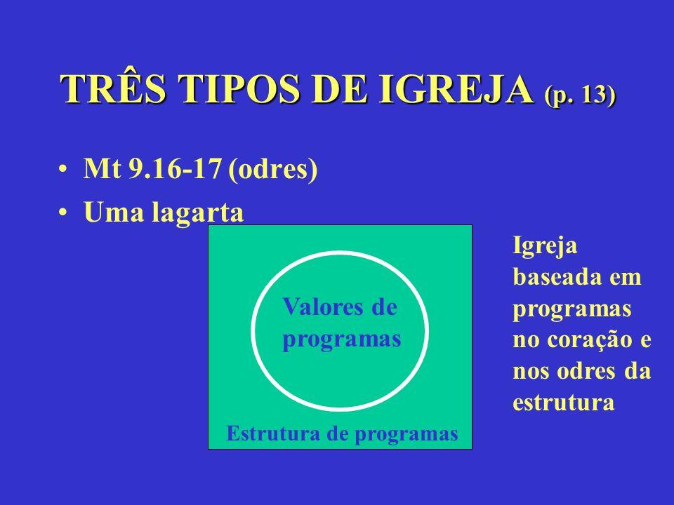TRÊS TIPOS DE IGREJA (p. 13)