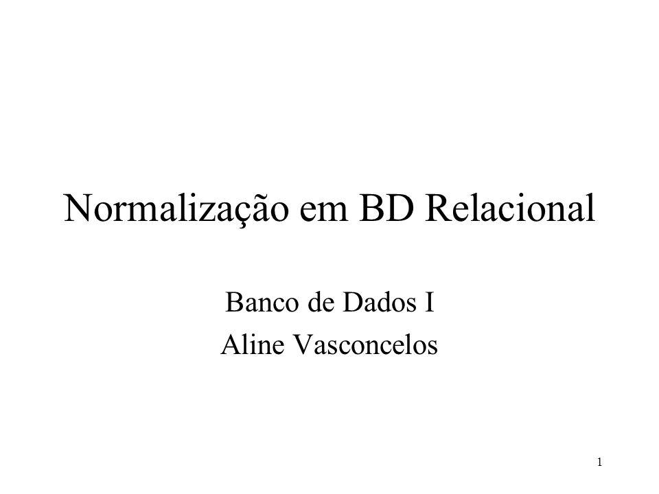 Normalização em BD Relacional